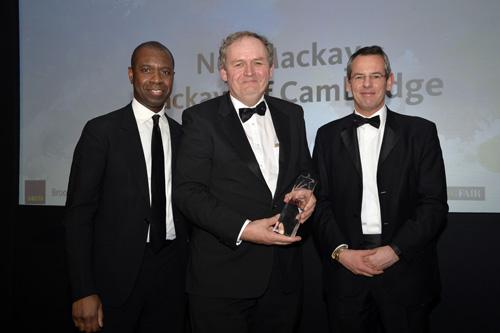 Winner Industry Personality Neil Mackay and Sponsor Stax