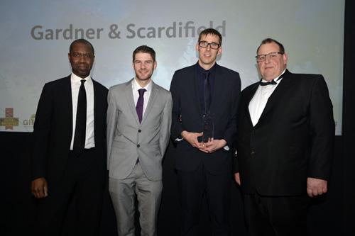 Winner Training Development Gardner Scardifiend and Sponsor Home Hardware